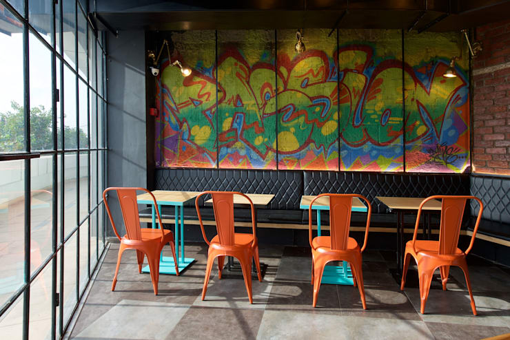 The grafitti wall:  Hotels by Studio Node,Industrial