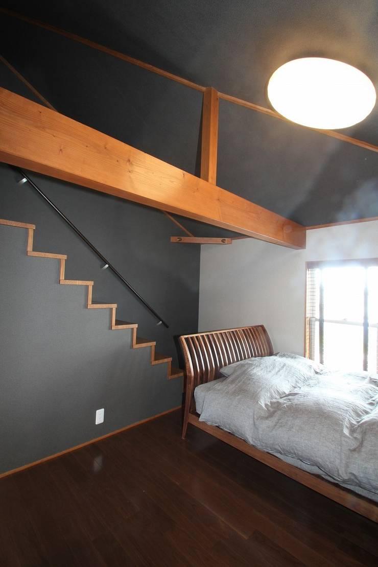 個室: 大出設計工房 OHDE ARCHITECT STUDIOが手掛けた寝室です。