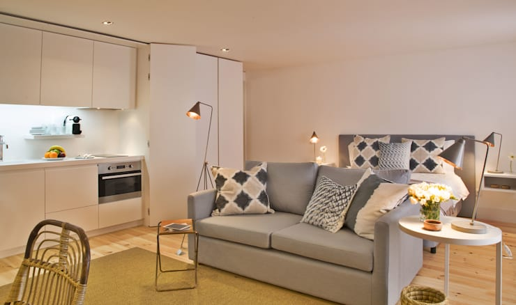 غرفة السفرة تنفيذ Pureza Magalhães, Arquitectura e Design de Interiores