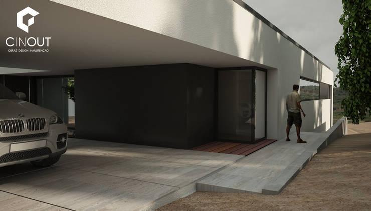 Moradia em Construção:   por CINOUT - Obras, Design e Manutenção Lda.