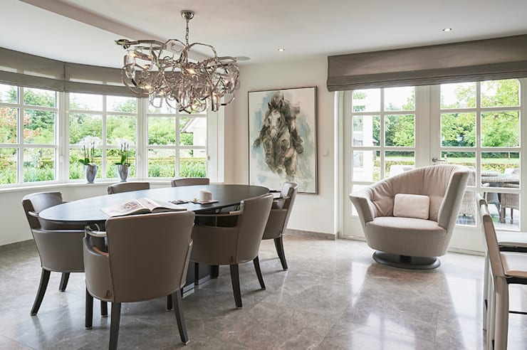 Villa Hilversum:  Eetkamer door Designa Interieur & Architectuur BNA