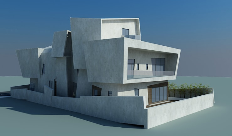 Decon house:  Houses by Offcentered Architects,Modern Concrete