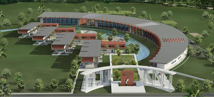Proposed Music school in Chennai:  Schools by Offcentered Architects,Modern
