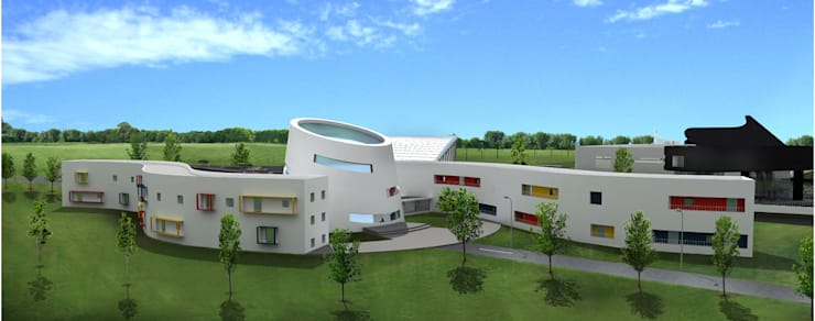 Proposed Music school in Chennai:  Commercial Spaces by Offcentered Architects,Modern