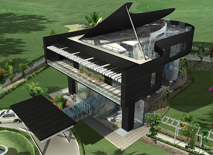 Proposed Musical residence at Chennai:  Houses by Offcentered Architects
