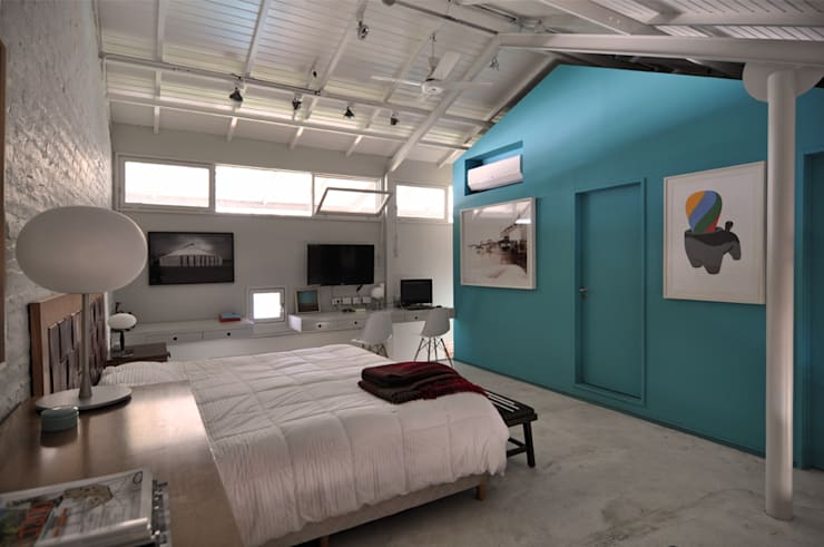 Dormitorios de estilo  por Matealbino arquitectura