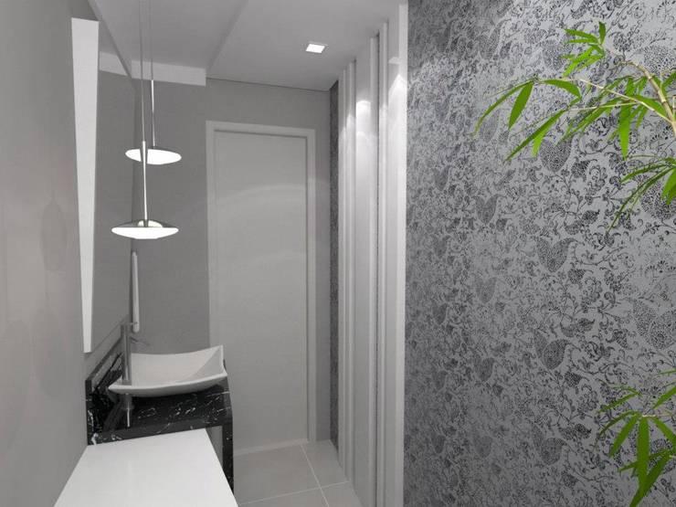 Lavabo: Banheiros modernos por Arquitetando Arquitetas Associadas