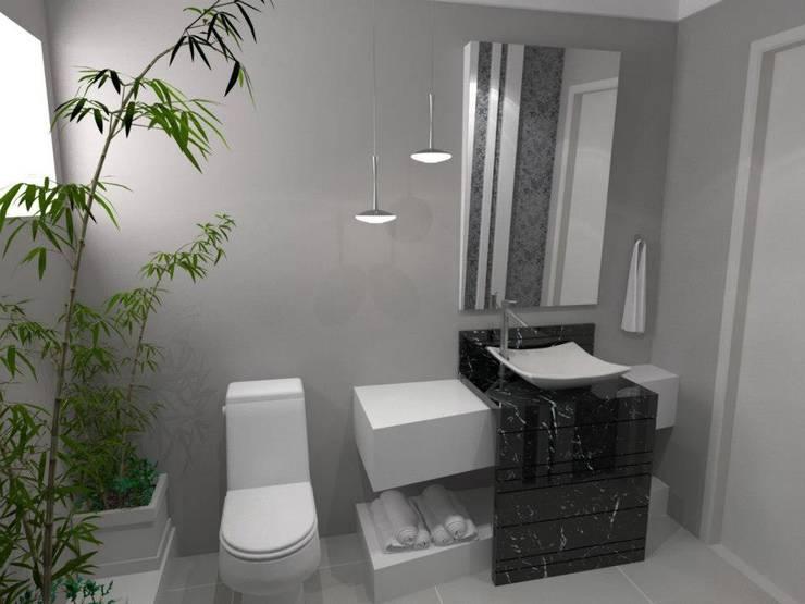 Atlantida Sul: Banheiros  por Arquitetando Arquitetas Associadas