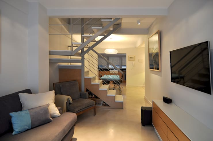 Livings de estilo  por Matealbino arquitectura