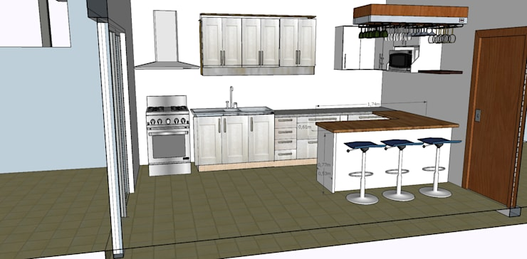 Cocinas de estilo moderno por GM Arquitectura&Construcción