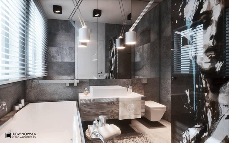 MINIMALISTYCZNIE: styl , w kategorii Łazienka zaprojektowany przez Ludwinowska Studio Architektury