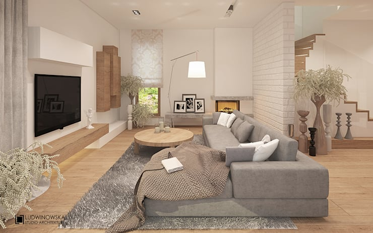 SIELSKO ANIELSKO: styl , w kategorii Salon zaprojektowany przez Ludwinowska Studio Architektury