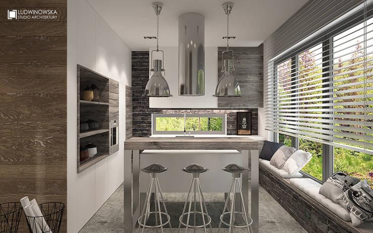 SOFT LOFT: styl , w kategorii Kuchnia zaprojektowany przez Ludwinowska Studio Architektury