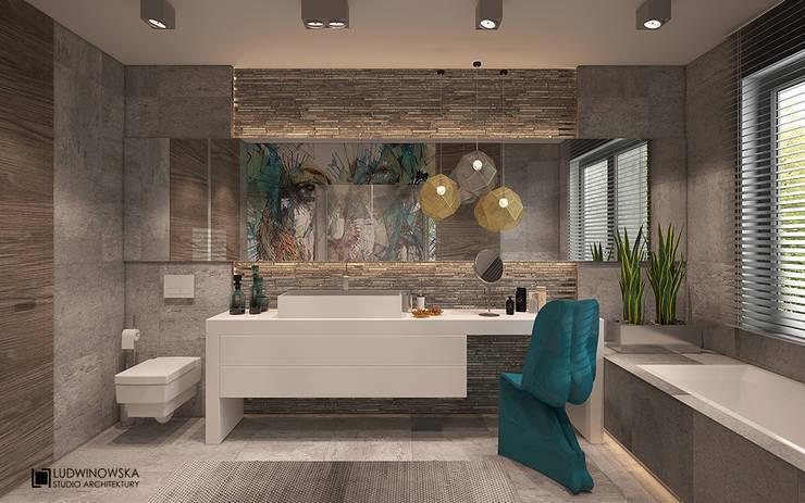 SOFT LOFT: styl , w kategorii Łazienka zaprojektowany przez Ludwinowska Studio Architektury