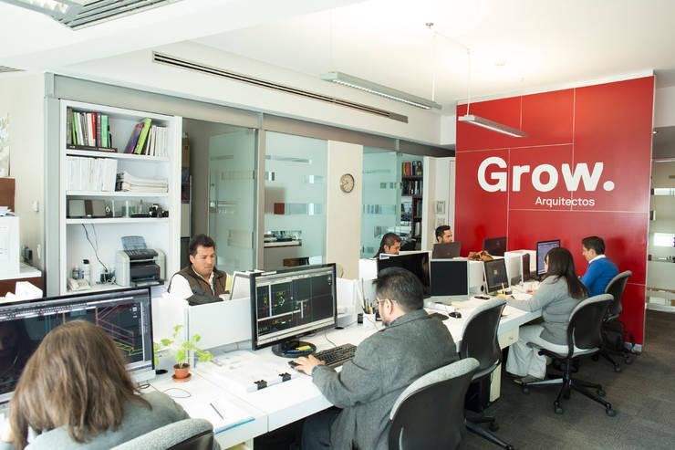 Oficinas Grow : Estudios y oficinas de estilo  por Grow Arquitectos