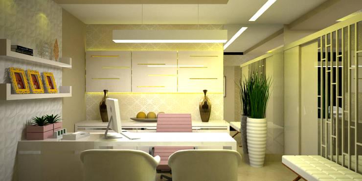 Oficinas de estilo  por Duecad - Arquitetura e Interiores