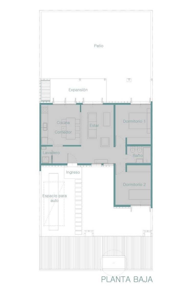 ProCreAr Modelo bicentenaria modificada:  de estilo  por JUNE arquitectos
