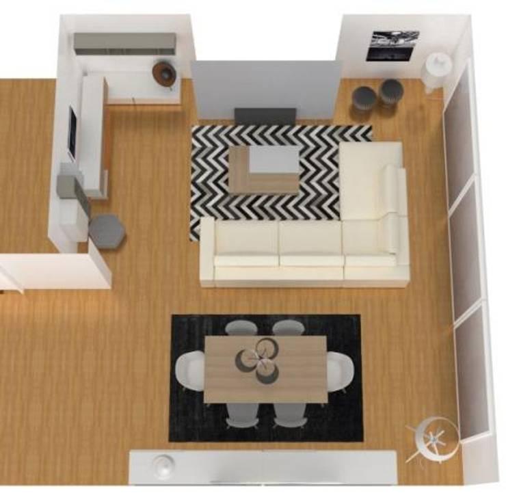 Projecto Sala de Estar: Salas de estar  por AnaPacheco - BoConcept Interior Designer