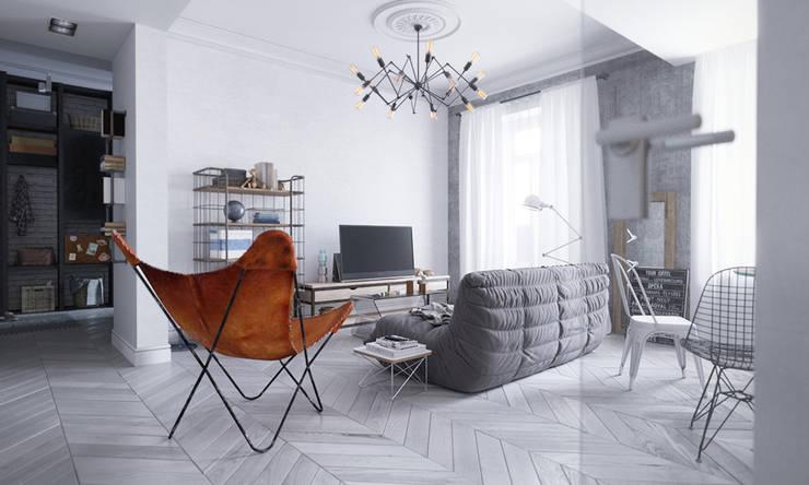 Living room by арх бюро Edifico