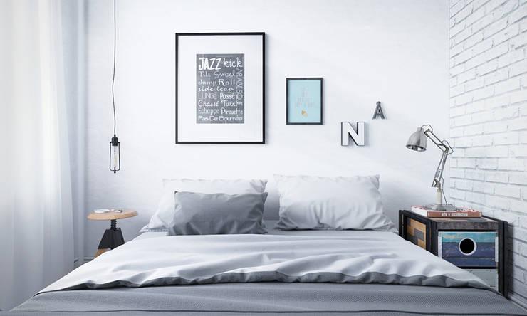 Парижский loft: Спальни в . Автор – арх бюро Edifico