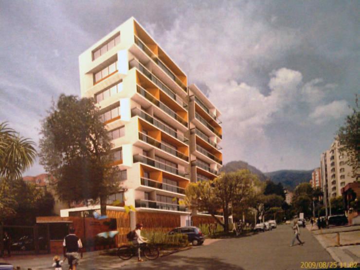 Fachada: Casas de estilo moderno por Arquitectura Integral LTDA