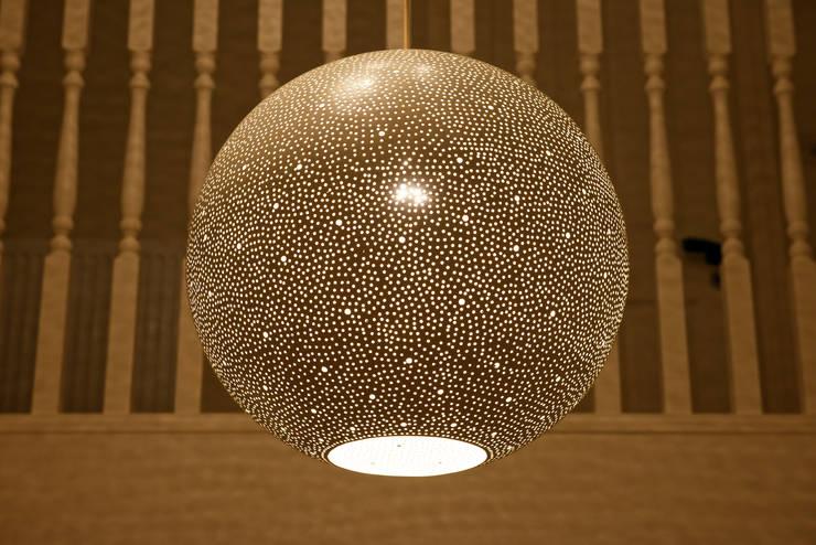 Rita 400 pendant light - ''old' white:  Corridor, hallway & stairs by ..