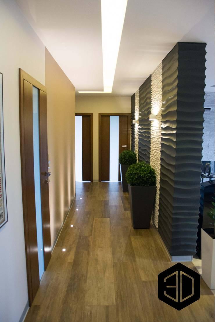 Corridor and hallway by 3D STUDIO, Modern