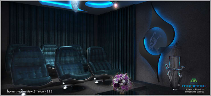 Contemporary Interior Design:  Media room by Premdas Krishna