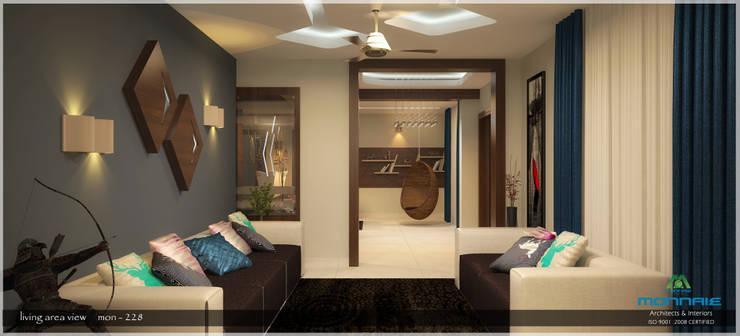 Contemporary Interior Design:  Living room by Premdas Krishna