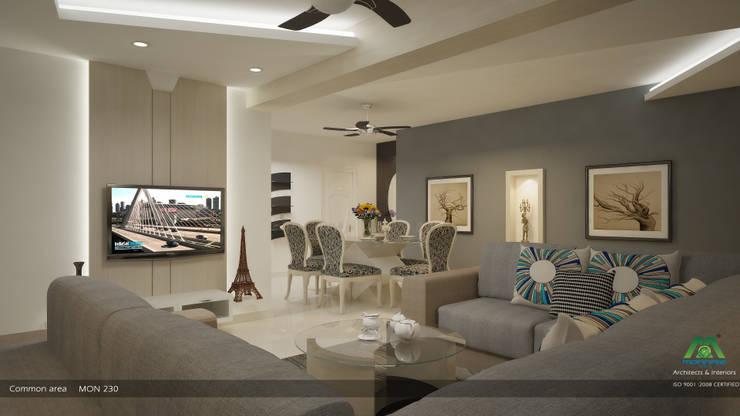 Modern Contemporary Interior Design:  Living room by Premdas Krishna
