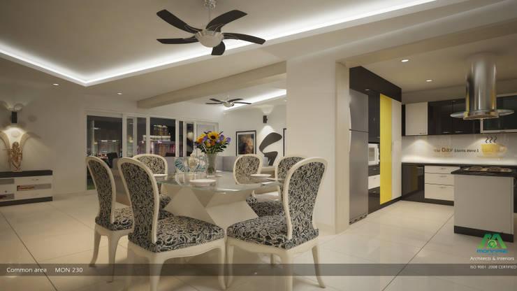Modern Contemporary Interior Design:  Dining room by Premdas Krishna