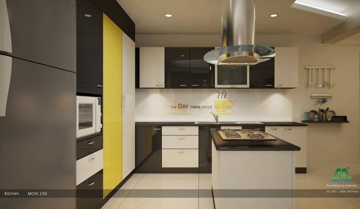 Modern Contemporary Interior Design:  Kitchen by Premdas Krishna