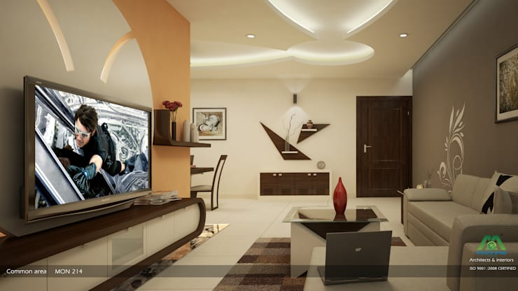 Impressive contemporary style: modern Living room by Premdas Krishna