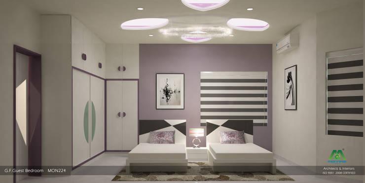 Guest Bedroom:  Bedroom by Premdas Krishna