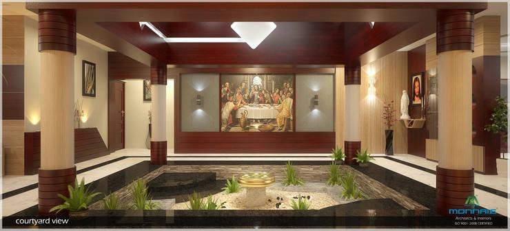 Courtyard:  Corridor & hallway by Premdas Krishna
