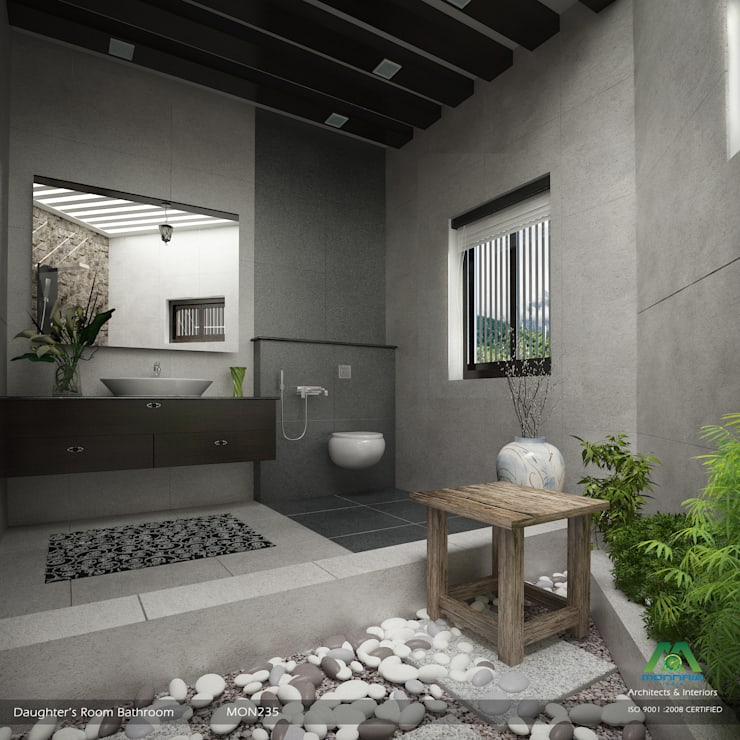 Modish Modern Contemporary… :  Bathroom by Premdas Krishna
