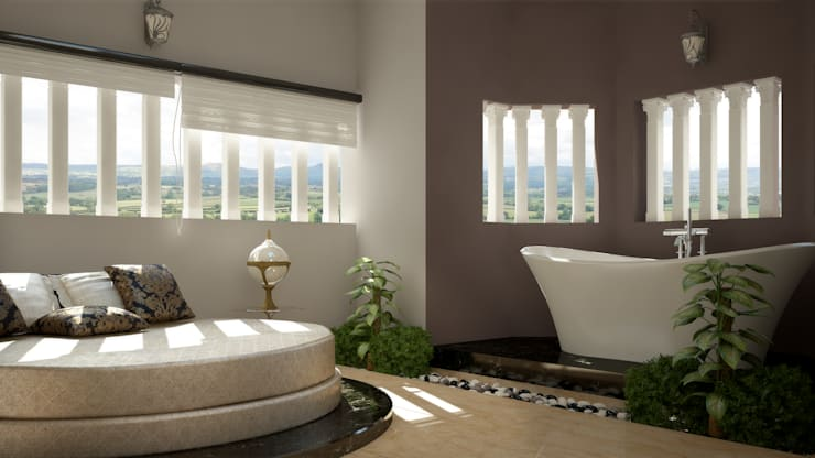 Modish Modern Contemporary...:  Bedroom by Premdas Krishna