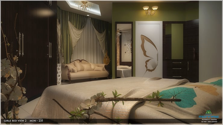 Modish Modern Contemporary… :  Bedroom by Premdas Krishna