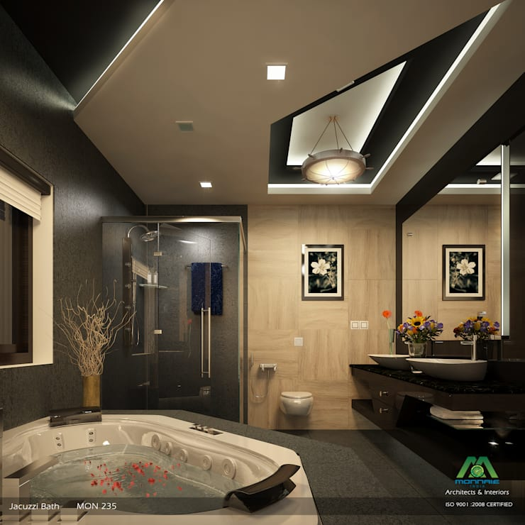 Modish Modern Contemporary...:  Bathroom by Premdas Krishna