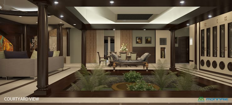 Magic in interiors with Indian contemporary design:  Living room by Premdas Krishna