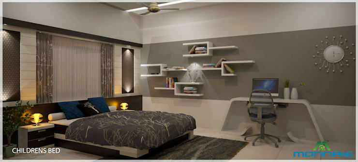 Magic in interiors with Indian contemporary design: modern Bedroom by Premdas Krishna