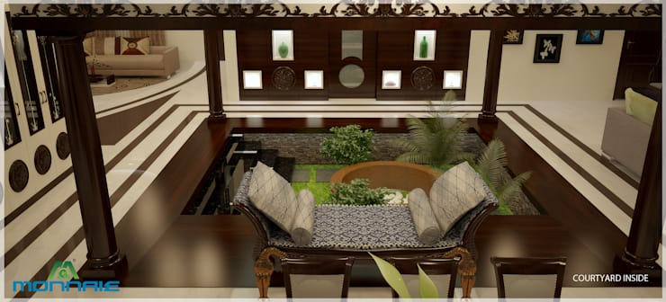 Magic in interiors with Indian contemporary design:  Living room by Premdas Krishna ,Modern