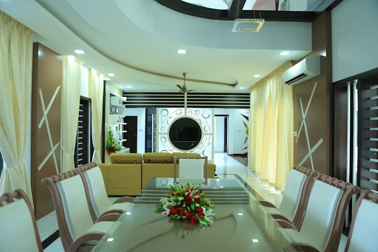 Ultra Modern Interior Design:  Dining room by Premdas Krishna
