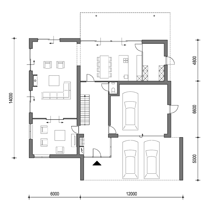 Plattegrond moderne villa:  Huizen door Villa Delphia