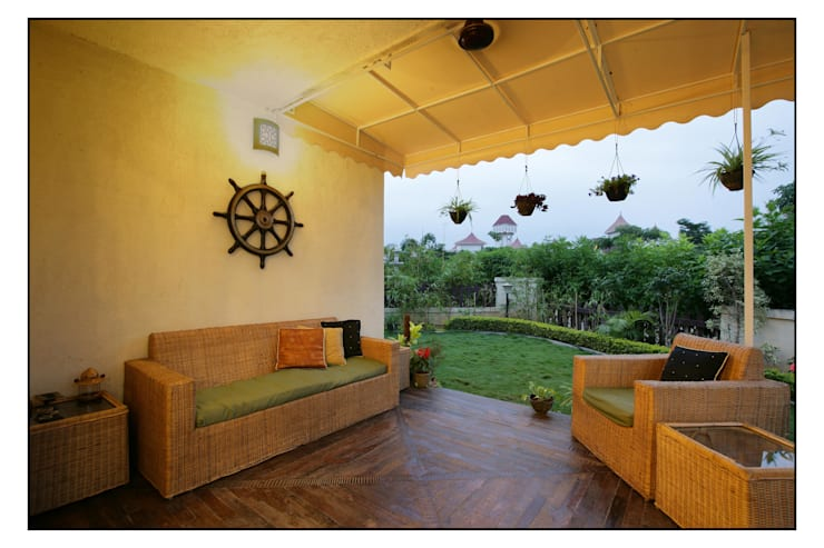 Jardines de estilo moderno por Navmiti Designs