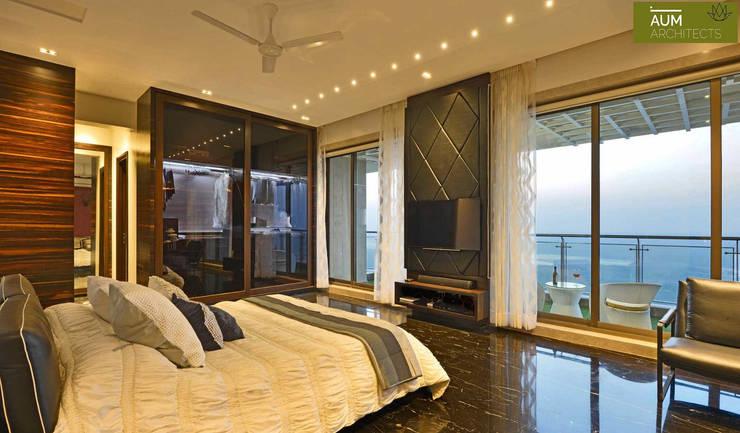 Спальни в . Автор – Aum Architects