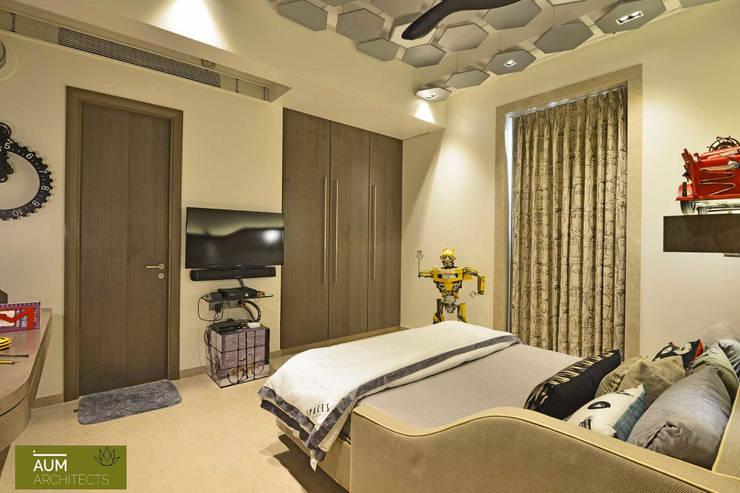 Projekty,  Sypialnia zaprojektowane przez Aum Architects