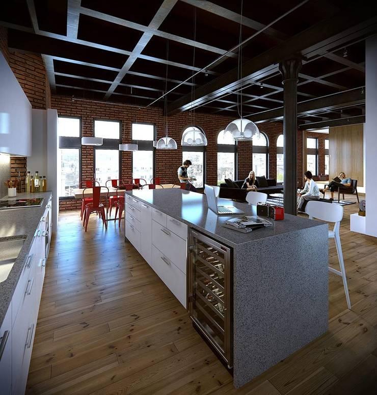 Loft nyc:  de estilo  por Estudio-A2T