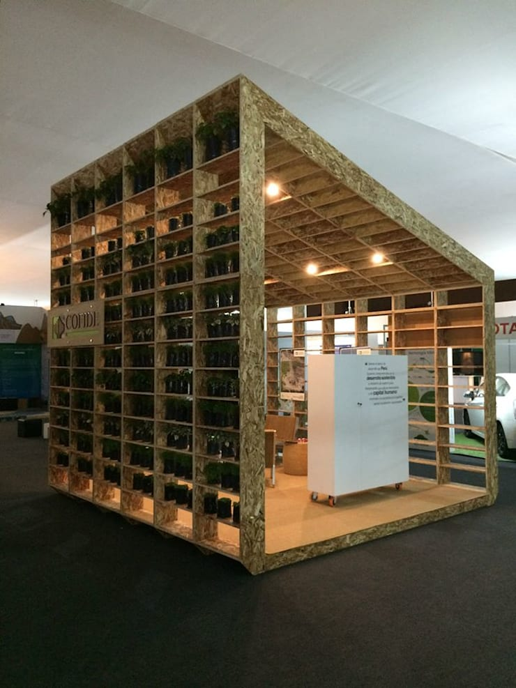 MODULO COFIDE COP20: Centros de exhibición de estilo  por NIKOLAS BRICEÑO arquitecto, Moderno