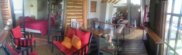 HECHO EN LA MONTAÑA: Livings de estilo  por sm arquitectura,